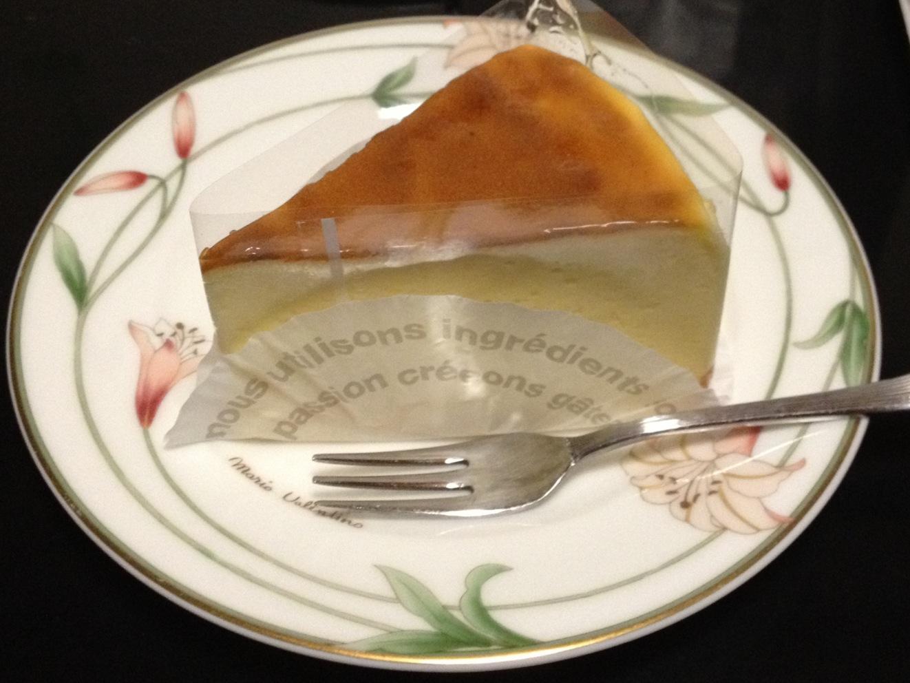 マロニエのチーズケーキ