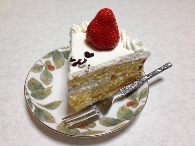 久しぶりにイチゴの載ったケーキ