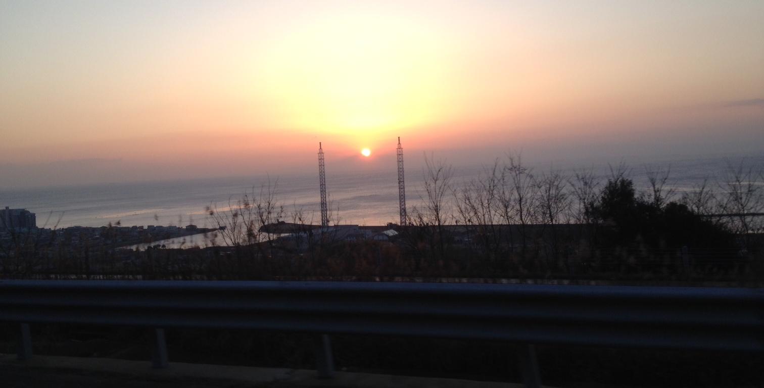 久しぶりに綺麗な日の出