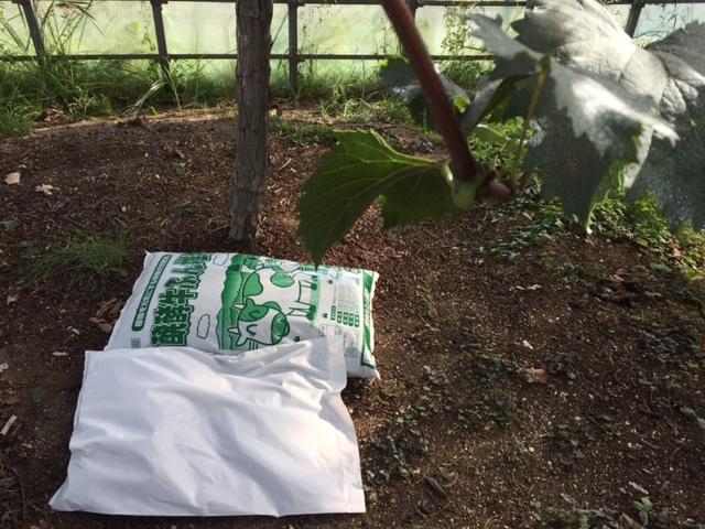肥料撒き撒き